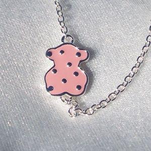 TOUS Jewelry - TOUS Bracelet Face ROSE PINK Enamel Sterling